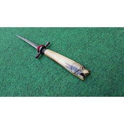 dague 19eme napoléon III poignée sculptée tète de chien !!!! pique couille