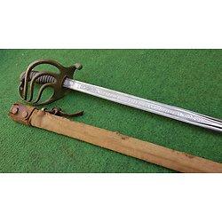Superbe sabre français officier infanterie 1882 lame de TOLÈDE