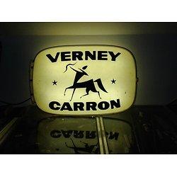 Grande enseigne lumineuse extérieur d armurerie VERNEY CARRON sagittaire année 60/70