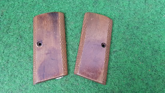 Plaquettes bois pistolet browning FN 1910