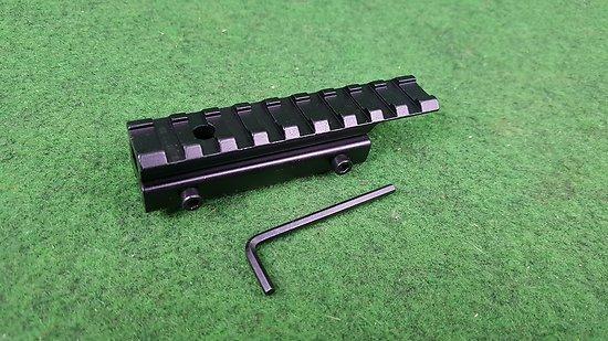 Montage optique adaptateur rail 11mm vers weaver / picatinny
