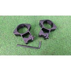 Paire de colliers montage lunette 1 pouce rail 11mm model haut visée ouverte