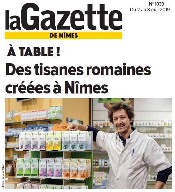Les tisanes Roman&Tea, idéales pour se renforcer ou se détendre - Gazette de Nîmes - Art 1052-53-54 - Herboristerie du Docteur Sammut