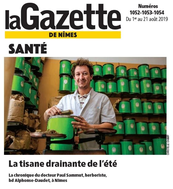 Les tisanes et remèdes du Docteur Sammut permettent de lutter contre tous les maux - Gazette de Nîmes - Art 1052-53-54 - Herboristerie du Docteur Sammut
