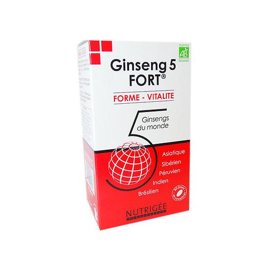 Ginseng 5 fort BIO - Nutrigée - 60 gélules