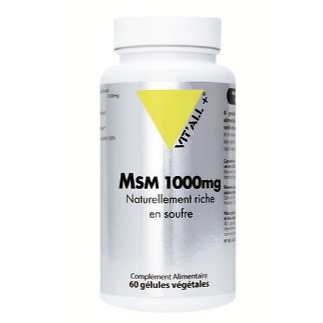 MSM 1000mg ou Méthyl sulfonyl méthane - Vitall +