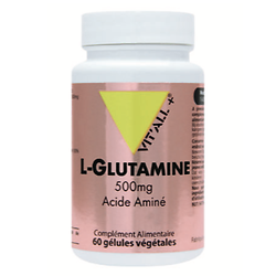 L- Glutamine - 60 gélules - Vitall +