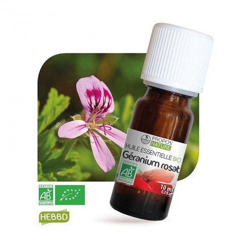 Géranium rosat BIO - Huile Essentielle - Propos nature - 10ml