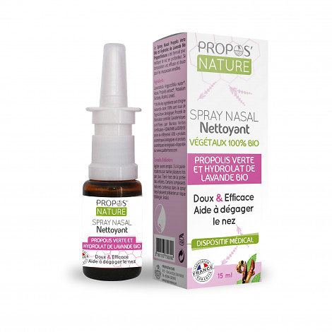 Spray Nasal Propolis Verte Bio et hydrolat de Lavande BIO - 15ml