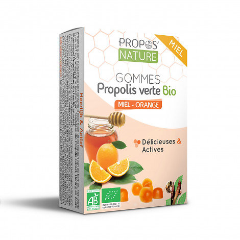Gommes Miel & Propolis verte BIO -orange