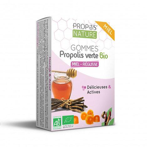 Gommes Miel & Propolis verte BIO - Réglisse
