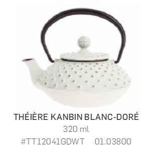 Théière Iwachu en fonte - 320ml - blanche