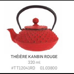 Théière Iwachu en fonte - 320ml - rouge