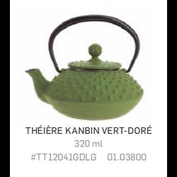 Théière Iwachu en fonte - 320ml - verte