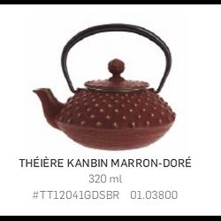 Théière Iwachu en fonte - 320ml - marron/ doré