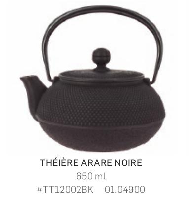 Théière Iwachu en fonte - 650ml - noire