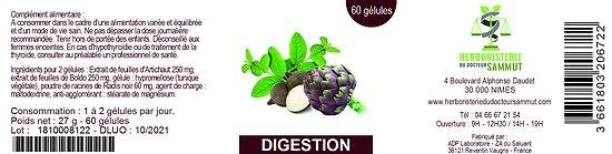 Gélules digestion - herboristerie du Dr. SAMMUT - 60 gélules