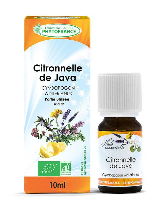 Citronnelle de Java BIO - Huile Essentielle - Phytofrance - 10ml