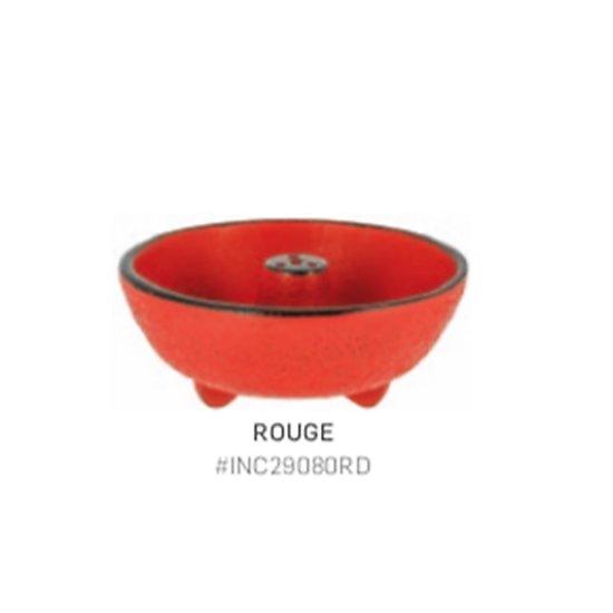 Brûle parfum fontaine - fonte - rouge