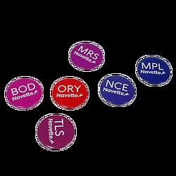 Set de 6 Magnets assortis Navette - Logo