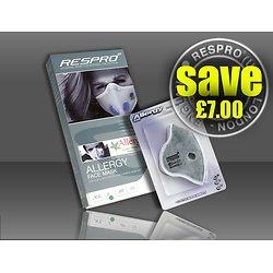 Combo Masque Allergy Respro et deux filtres à particules chimiques