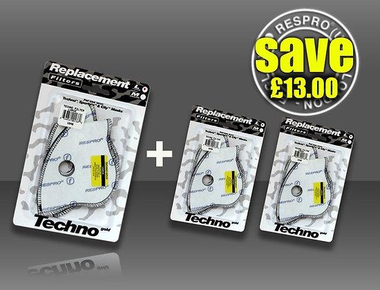 Pack de six filtres Techno