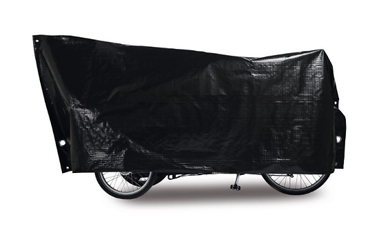 Bâche de protection cargo bike VK 120 x 295cm Noir 2 grands oeillets