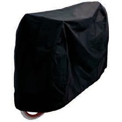 "HOUSSE PROTECTION VELO LUXE 24""/29"" 165x100 A VELCROS IMPERMEABLE NOIRE"