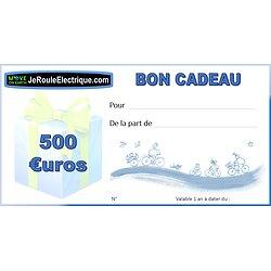 Bon cadeau 500 euros