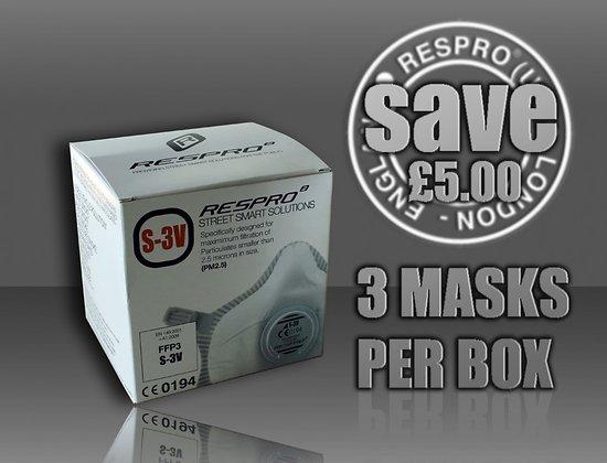 Combo de trois Masque Respro S3V StreetSmart