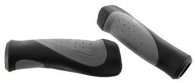 Paire de poignées guidon double densité noir/gris