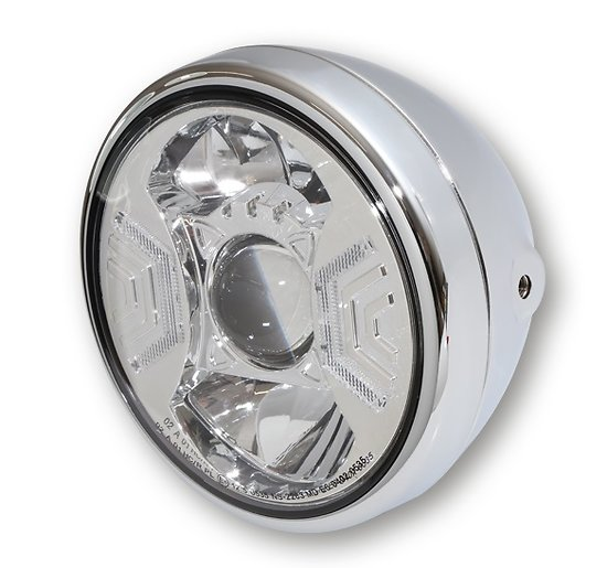 Phare rond Led RENO Type 2 Chrome