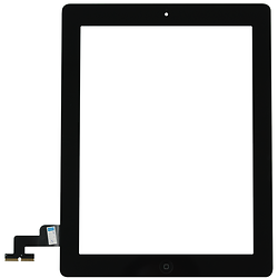Touch Screen Digitizer iPad 2 Black + Stickers + Home Button Assembly