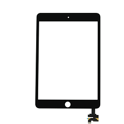 Touch Screen Digitizer with IC iPad Mini 3 Black + Home Button + Flex Home Button + Stickers