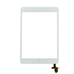 Touch Screen Digitizer with IC iPad Mini 2 White + Home Button + Flex Home Button + Stickers