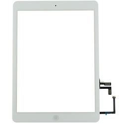 Touch Screen Digitizer iPad AIR 5 White + Stickers + Home Button Assembly