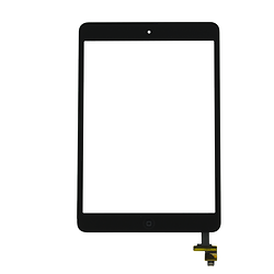 Touch Screen Digitizer with IC iPad Mini Black + Home Button + Flex Home Button + Stickers