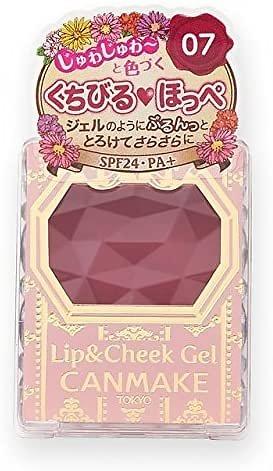 Canmake - Lip&Cheek Gel - Gel lèvres et joues (07 Tarte aux framboises) SPF24 PA+