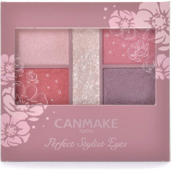 Canmake - Perfect Stylist Eyes - Palette fards à paupières (14 Antique ruby)