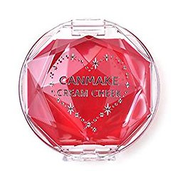 Canmake - Cream Cheek - Fard à joue crème (CL01 Clear red heart)