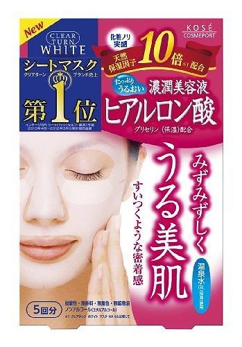 Kosé - Masques éclaircissant à l'acide hyaluronique