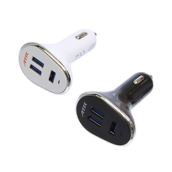 3 port USB car charger (12W)