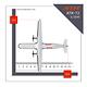 Maquette ATR 72 FedEx 1/200