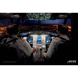 ATR -600 Series Glass Cockpit poster