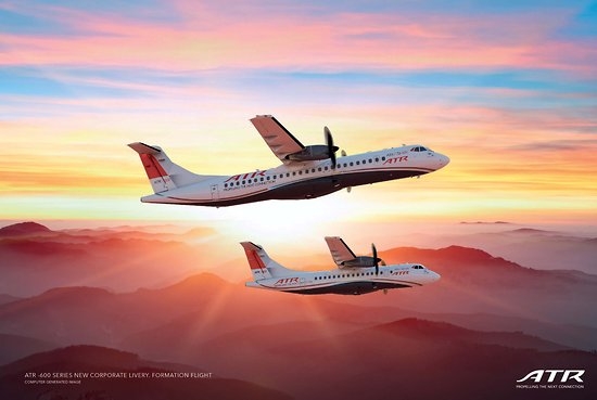 """ATR -600 series new corporate livery """"formation flight"""" poster"""
