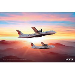 "ATR -600 series new corporate livery ""formation flight"" poster"