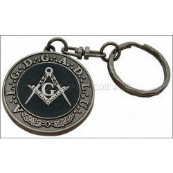PORTE CLEF Franc-Maçon/A.L.G.D.G.A.D.L.U/Equerre et Compas/arg
