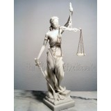 STATUE LA JUSTICE STYLE MARBRE/THEMIS/JUSTICIA