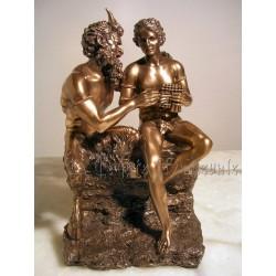 Dieu Pan et Daphnis/Grèce antique/Berger/Arcadie/Syrinx