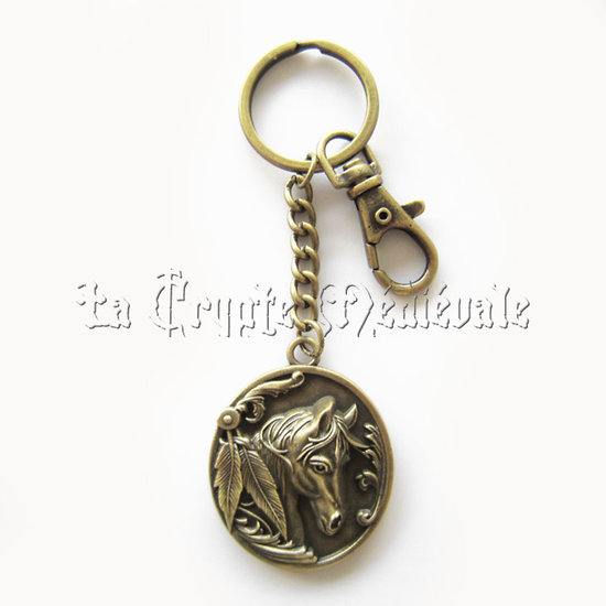 PORTE CLEFS CHEVAL/EQUITATION/SELLERIE